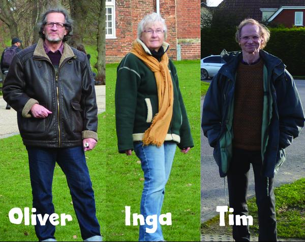 Oliver, Inga and Tim